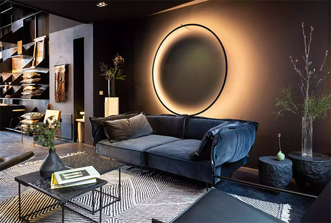How Do You Decorate a Large Wall Over a Couch? Lighting