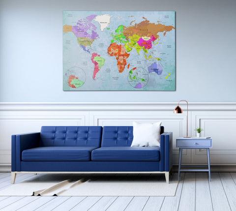 Canvas print world map wall art