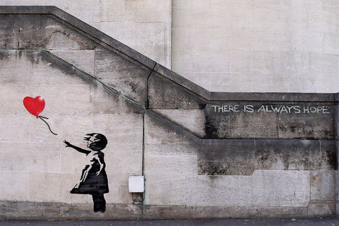 banksy graffiti street art There is always hope