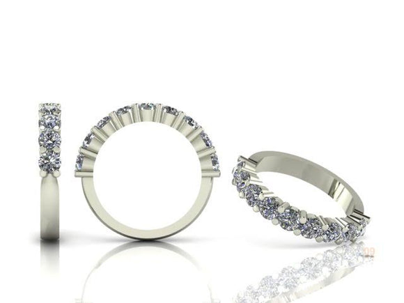 Claw Set Brilliant Cut Diamond Half Band