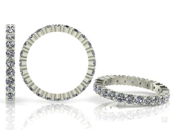 Claw Set Brilliant Cut Diamond Full Band