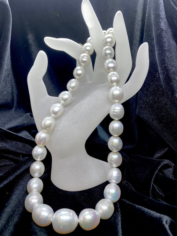 14ct White Gold White South Sea Pearl Necklace