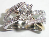 4 Claw Oval Cut Diamond Ring with Diamond Shoulders
