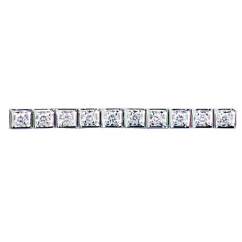 18ct White Gold Square Link Tennis Bracelet