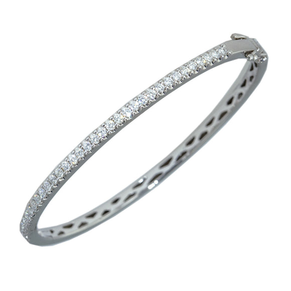 18ct White Gold Oval Diamond Dress Bracelet