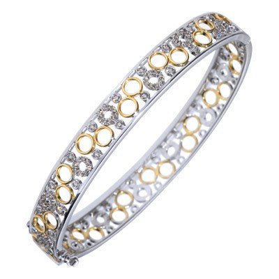 9ct Two Tone Circle Dress Bracelet