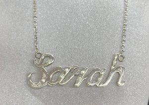 9ct & 18ct Gold Custom Name Necklace