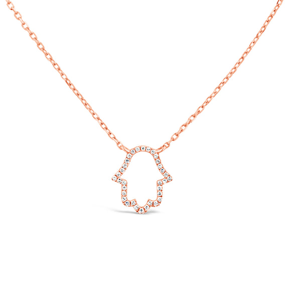 18ct Gold Diamond Hasma Necklace