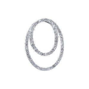 18ct White Gold Diamond Circle Pendant