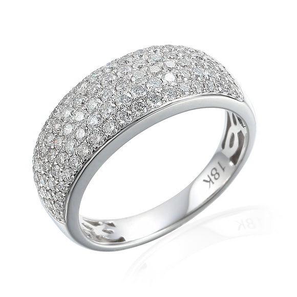 18ct White Gold Diamond Pavé Ring