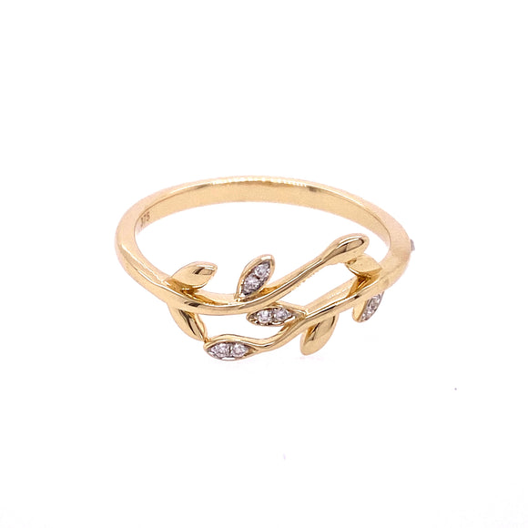 9ct Gold Wrap Around Vine Diamond Dress Ring