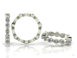 Claw & Bezel Set Brilliant Cut Diamond Band