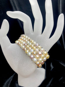 Pink Mix Tone Fresh Water Pearl Bracelet