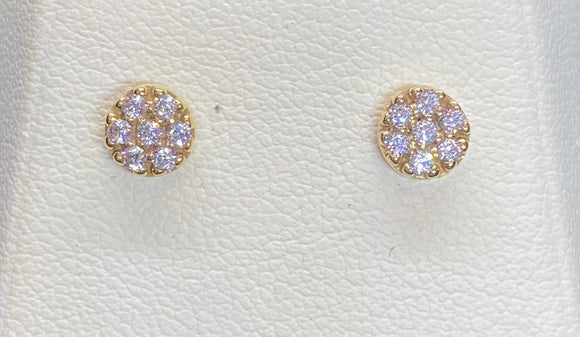 9ct Yellow Gold Round Studs