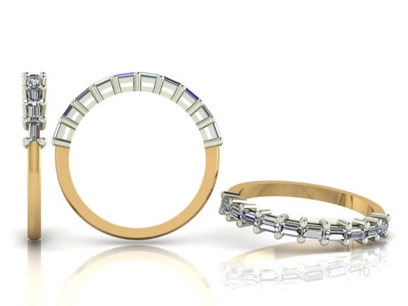 Claw Set Baguette Cut Diamond Band