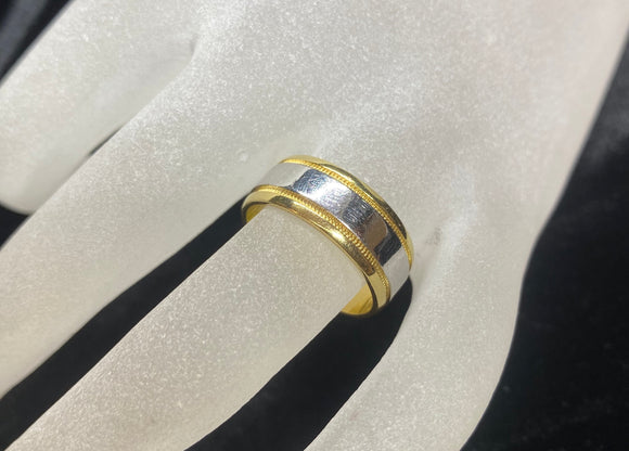 18ct Two Tone Men's Ring