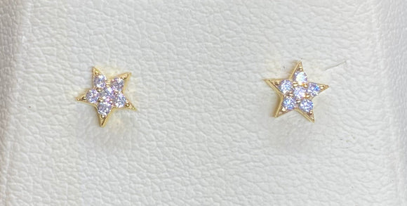 9ct Yellow Gold Star Studs