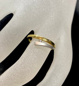 18ct Two Tone Diamond Ring