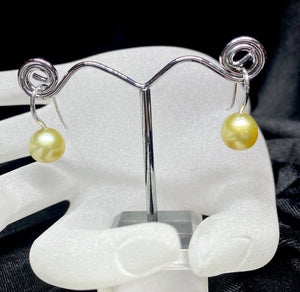 9ct White Gold South Sea Pearl Earrings