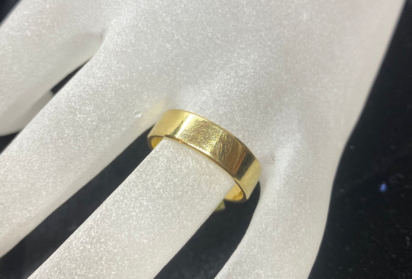 18ct Yellow Gold Simple Men's Ring