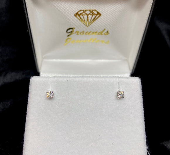 18ct White Gold Brilliant Cut Diamond Stud Earrings