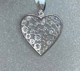9ct White Gold Cubic Heart Pendant