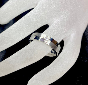TWM Made to Order: Mens Polish & Brushed Diamond Ring