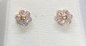 9ct Yellow Gold Flower Studs