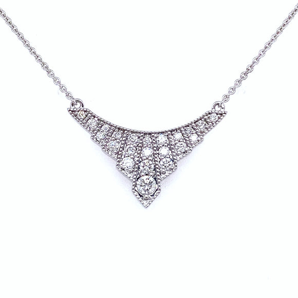 9ct White Gold Diamond Tiara Necklace
