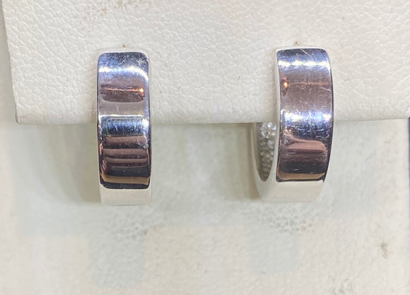 9ct White Gold Huggie Earrings