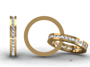 Channel Set Brilliant Cut Diamond Band