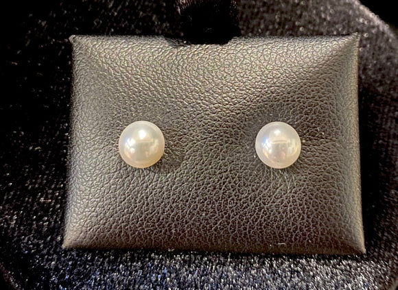 18ct Yellow Gold Fresh Water Pearl Studs