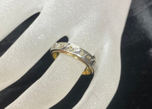9ct Two Tone Men's Wave Ring