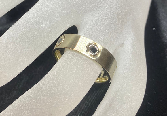 18ct Yellow Gold Black Diamond Men's Ring