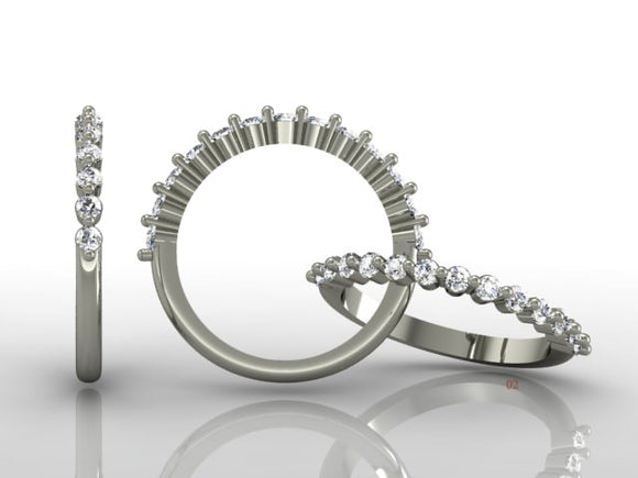 Claw Set Brilliant Cut Diamond Band