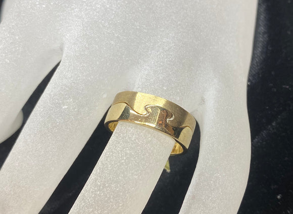 9ct Yellow Gold Men's Puzzle Ring
