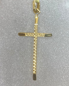 18ct Yellow Gold Diamond Cut Cross