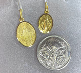 18ct Yellow Gold Virgin Mary Token Pendant