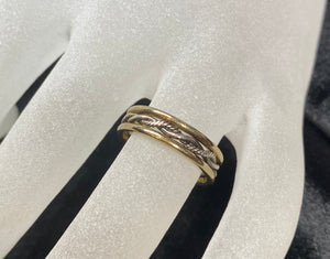 9ct Two Tone Rope Detail Ring