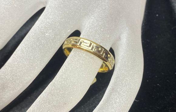 18ct Yellow Gold Greek Key Men's Ring