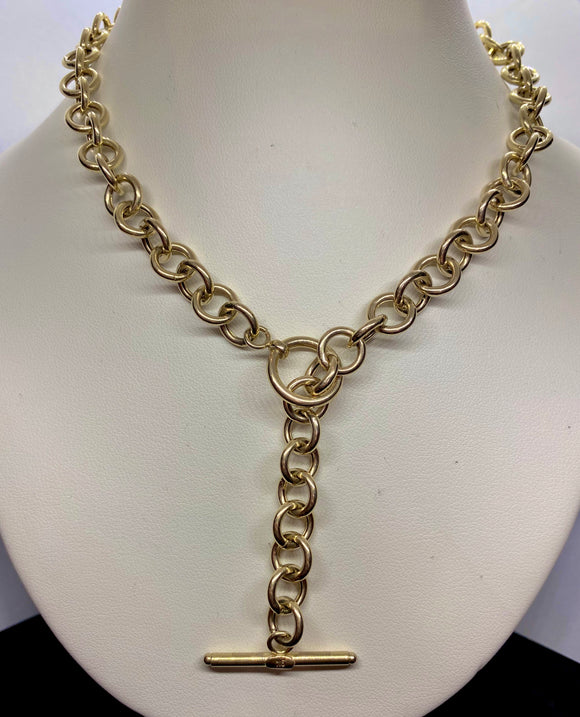 9ct Yellow Gold Large Trace Chain Neclace