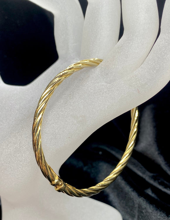 9ct Yellow Gold Hollow Twist Bracelet