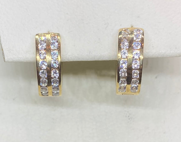9ct Yellow Gold Small Huggie Earrings