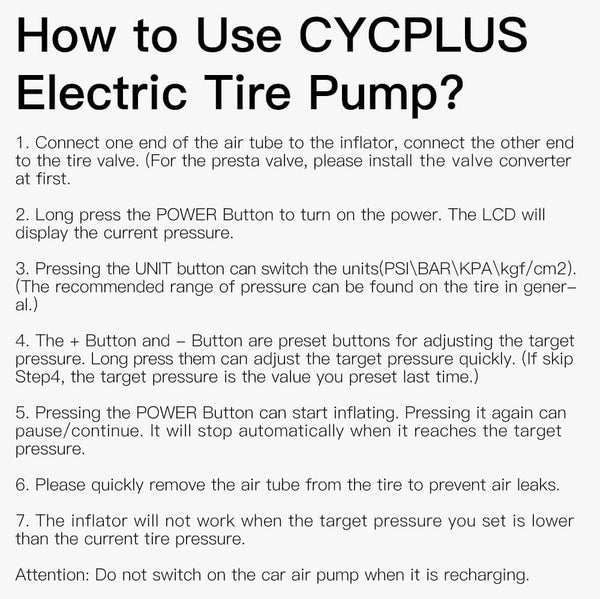 How to use our air pump
