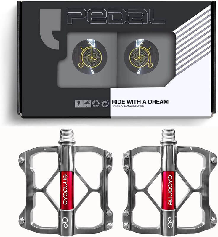CYCPLUS 9/16 Inch 3 Bearings Bicycle Pedals