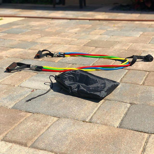 11 Pcs/Set Resistance Bands with Bag