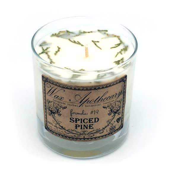 Spiced Pine Candle in Scotch Glass in Box 7oz