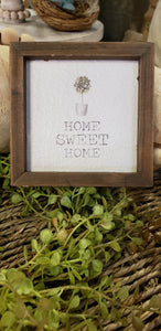 Mini Framed Watercolor 4in Art - Home Sweet Home