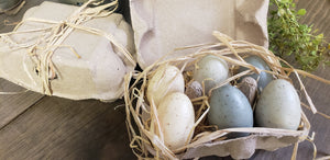 Speckled Eggs in a Carton