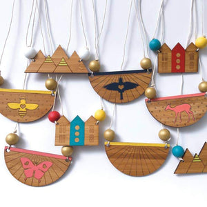 DIY Wood Necklace Kit - Sunray